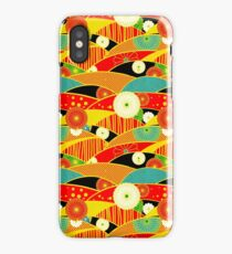 Chiyogami Crimson & Carrot [iPhone / iPod Case and Print] iPhone Case