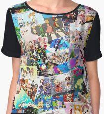 Best Anime Collage Pics Women's Chiffon Top