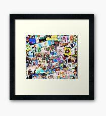 Best Anime Collage Pics Framed Print