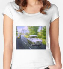 Ford Zephyr saloon.  Women's Fitted Scoop T-Shirt