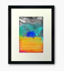 Fear is a mirage canvas watercolor  Framed Print