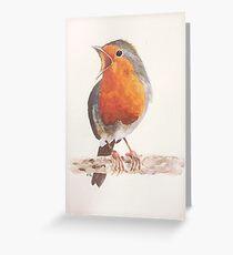 Watercolour Robin Greeting Card