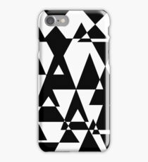 black and white abstract collage of triangles iPhone Case/Skin