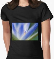 Selective focus of a blue water lily in a pond  T-Shirt