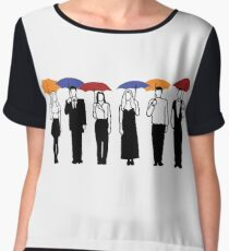 Friends TV Show Umbrella  Chiffon Top
