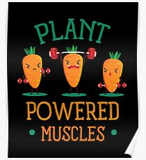 Plant Powered Muscle Poster