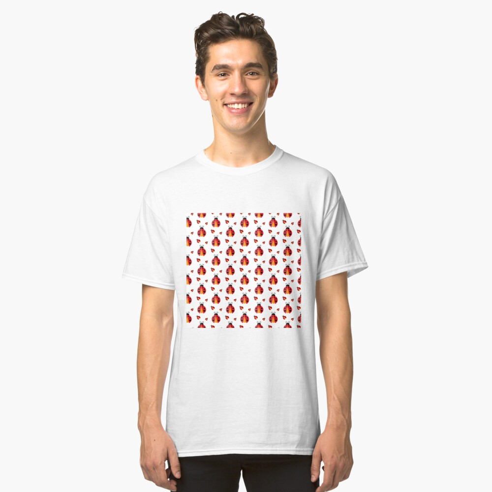 Ladybug. Vector pattern Classic T-Shirt Front