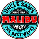 SURFING MALIBU CALIFORNIA SURF SURFER SURFBOARD WAX UNCLE SAM by MyHandmadeSigns