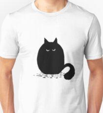 Fuzzy Black Cat T-Shirt