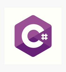 C# Sharp logo Art Print