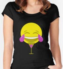 LMAO Purple Emoji Women's Fitted Scoop T-Shirt