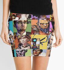 Borderlands Character Collage Mini Skirt