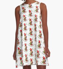Pitbull Terrier Christmas Gifts A-Line Dress