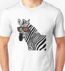 Funny Zebra With Sunglass Artwork T-Shirt