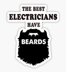 best electrician with beards, power grid bearded Electricity gift t shirt Sticker