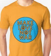 MAKE LOVE NOT WAR-BLUE Unisex T-Shirt