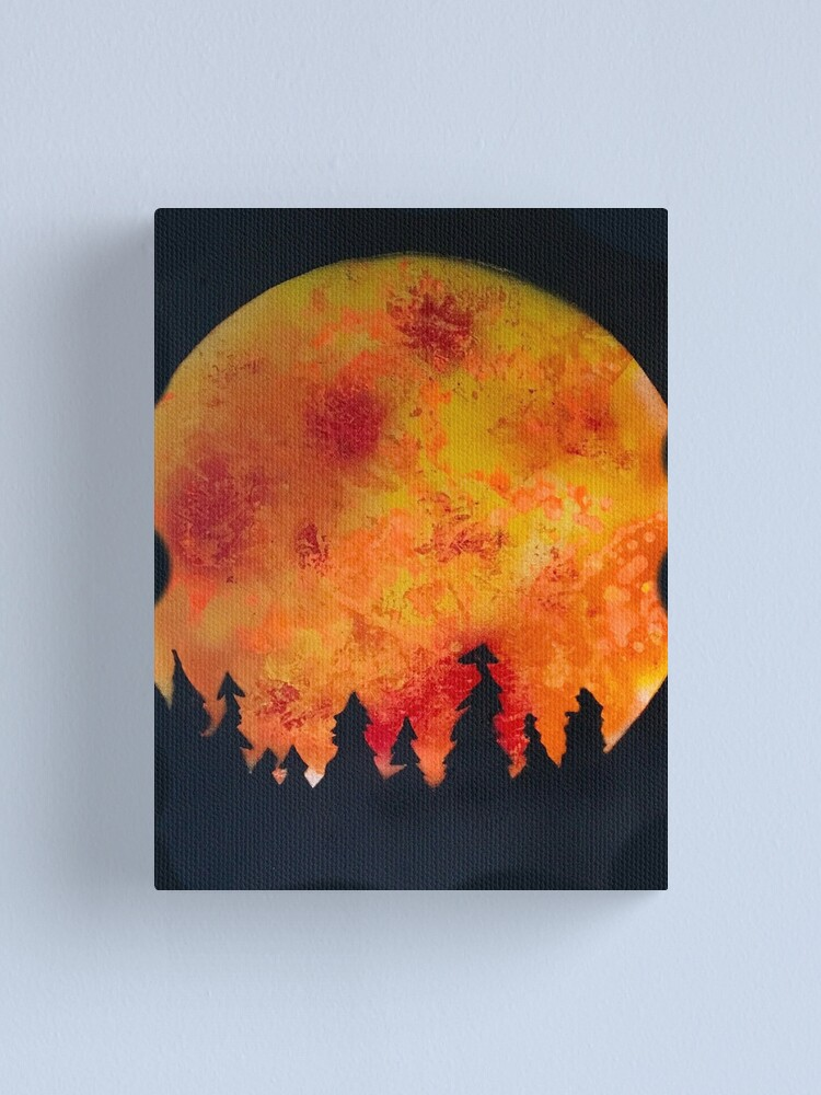 Alternate view of FIERY FULL MOON  Canvas Print