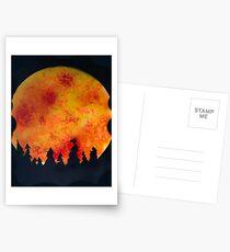 FIERY FULL MOON  Postcards