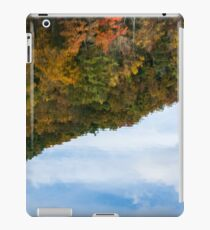 Reflection of fall foliage in a lake iPad Case/Skin