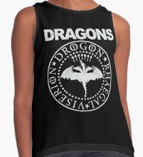 Dragons, Game of Thrones Viserion, Drogon, Rhaegal logo Contrast Tank