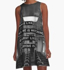 Encrypt like everyone is watching (B&W BG) A-Line Dress