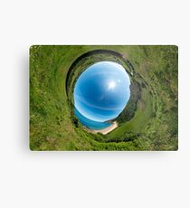 Kinnagoe Bay - Sky In Metal Print