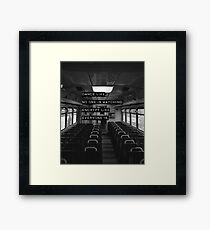 Encrypt like everyone is watching (B&W BG) Framed Print