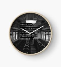 Encrypt like everyone is watching (B&W BG) Clock