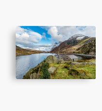Lake Ogwen and Tryfan Mountain Canvas Print
