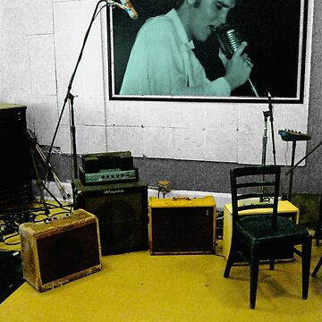 Photograph of Elvis Picture in Sun Studio by wmr2