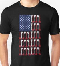Vintage Flag > US Flag Made of Darts > Bullseye T-Shirt