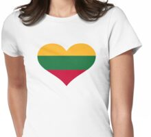 Lithuania flag heart Womens Fitted T-Shirt