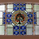 Congregational Cross Stained Glass Window by lezvee