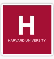 Square Harvard University Sticker