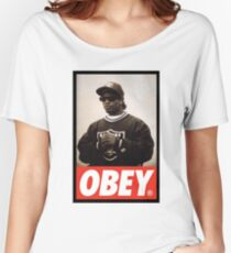 EAZY E OBEY DESIGN Women's Relaxed Fit T-Shirt