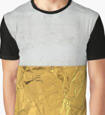 Gold Foil and Concrete Graphic T-Shirt