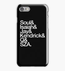 T.D.E in Helvetica (White) iPhone Case/Skin