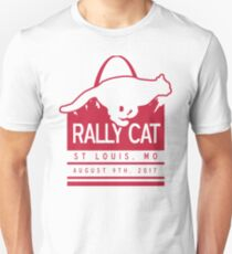 Rally Cat St Louis Baseball White And Red Unisex T-Shirt