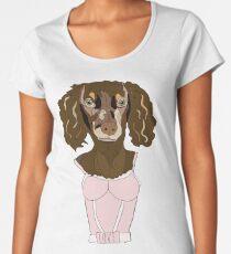 Dachshund in Dress Women's Premium T-Shirt