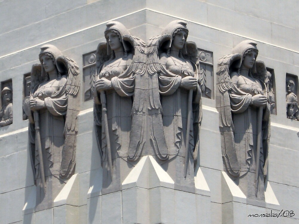 Four Angel on the Wall by saseoche