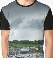 Aberaeron Harbour Wales Graphic T-Shirt