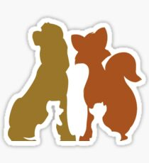 Fox and the Hound Child to Adult Sticker