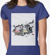 View of London Street Drawing buildings Eruope T-Shirt