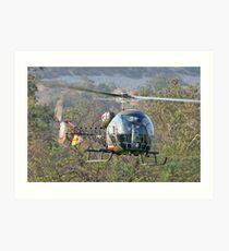 Mash Helicopter Art Print