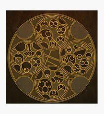 Tick-Tock Poem in Circular Gallifreyan Photographic Print