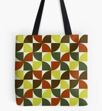Brown and Green Mid Century Mod Tote Bag