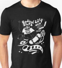 Radical Sloth - White Line T-Shirt