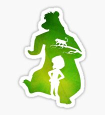 Jungle Book Colorful Silhouette  Sticker