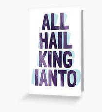 King Ianto Greeting Card