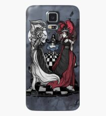 Alice and her Queens: The Checkered Board Case/Skin for Samsung Galaxy